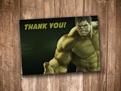 Hulk Thank You Card *Instant Digital Download* by appacadappa on Etsy