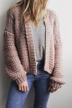 Like a chunky knit blanket you can wear.