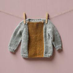 hand knit color blocked Pirin sweater by Kalinka