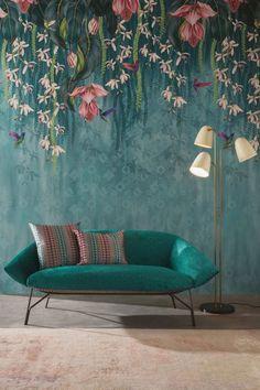 Girl Nursery, Girls Bedroom, Bedroom Ideas, Bedroom Decor, Orchid Wallpaper, Osborne And Little, Diy Home Decor Easy, Easy Diy, Teenage Room Decor