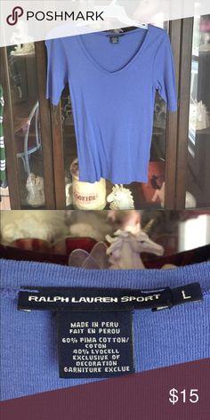Women's Sharp Blue Ralph Lauren Sport Shirt This item is in great shape! Ralph Lauren Tops Blouses