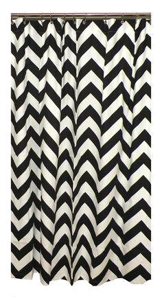 Black White Chevron Shower Curtain. Black and White Chevron Shower Curtain Details about InterDesign 180 x cm
