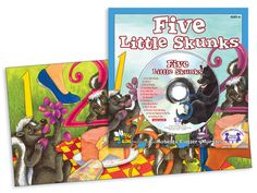 Five Little Skunks  What happens when you take five little skunks on a picnic one fine day? Track 1 is the story sung word-for-word so young readers can sing along with each page on their own. Tracks 2 to 12 include other counting and fun learning songs!  $4.99