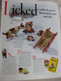 Vintage  Life Magazine Advertisment  Cream of by dimestoreemporium, $12.00