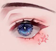 Eye Drawing Tutorials, Digital Painting Tutorials, Digital Art Tutorial, Art Tutorials, Art Anime, Anime Art Girl, Cartoon Kunst, Cartoon Art, Anime Drawings Sketches