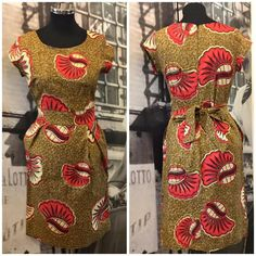 African Print Dress  African Clothing Ankara  by FashionClicks2