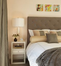 contemporary bedroom furniture neutral colors narrow nightstand design ideas