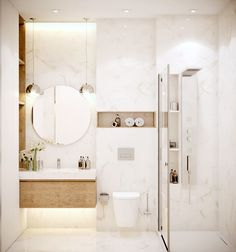 Create a successful marble bathroom decor - our ideas and inspirations in pictures! Marble Bathroom, Marble Bathroom Designs, Modern Bathroom Design, Bathroom Decor, Bathroom Makeover, Bathroom Design Luxury, Bathroom Design Small, Glamorous Bathroom Decor, Toilet Design