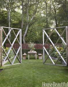 Gorgeous garden gate from House Beautiful