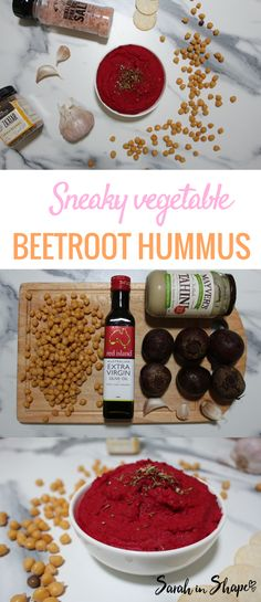 This healthy beetroot hummus is a great snack idea and meal prep recipe. It's full of healthy fats, fibre and complex carbohydrates. Perfect for entertaining and as a fridge staple to be eaten with protein, in place of sugar-filled sauce and with carrot sticks.