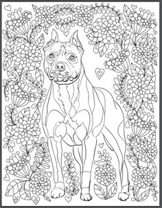 De Stress With Dogs Downloadable 10 Page Coloring Book For Adults Who Love Print Instantly