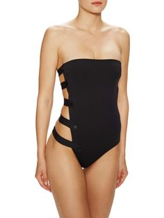 Sailor Cut Out Strapless One-Piece Swimsuit by Tavik Swimwear at Gilt
