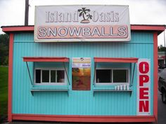 """Born in Maryland I remember with delight going down our alley in the summer for a """"Sky Blue Pink"""" snow cone with thin marshmello creme poured on top . I  love these small little old roadside stands !"""