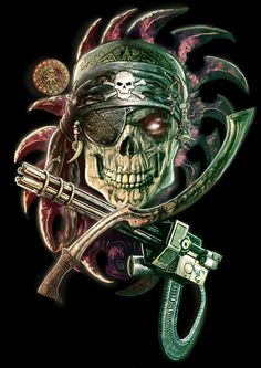 TecnoPirate Skull by TheMagicWarrior
