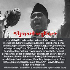 #ajaranbungkarno #bhinnekatunggalika #revolusiindonesia #pancasila #manipolusdek