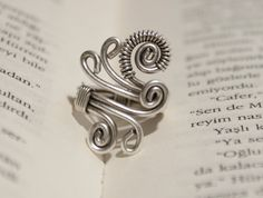 wire wrapped jewelry handmade-Adjustable ring-silver ring-wire wrapped ring