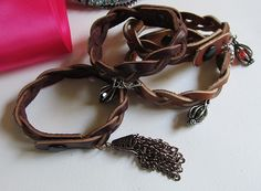 Leather Braid bracelets