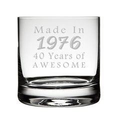 Custom 40th Birthday Etched Tumbler Glass Etched by TipsyGifts