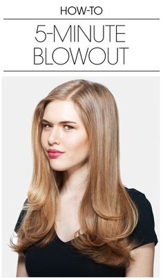We'll break it down in a nutshell for you: Put a small amount of a smoothing serum in your palms. Then, wrap small sections of hair around a round brush as you blow dry. Finish up by pinning each bottom section of hair into a large pin curl. For a more in-depth look into this routine, click here.
