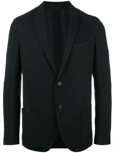 FENDI Black Single-Breasted Jacket. #fendi #cloth #blazers