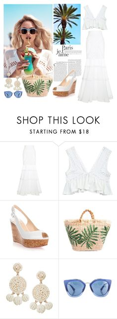"""Flip"" by zozanazozane ❤ liked on Polyvore featuring Andrew Gn, Wildfox, Christian Louboutin, Humble Chic and Prada"