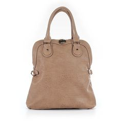 Deux Lux Satchel ($63) ❤ liked on Polyvore featuring bags, handbags, tan, man satchel bag, satchel bag, beige purse, purse satchel and hand bags
