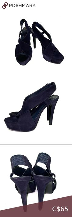 Diane Von Fürstenberg DVF Cross Platform Heels Very good condition, some minor flaws as seen on last photo (scuffs and water mark? Color is a combination of dark blue and purple. Plus Fashion, Fashion Tips, Fashion Trends, Von Furstenberg, Dark Blue, Kitten Heels, Flaws, Shoes Heels, Platform