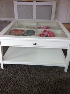 Ikea White Coffee Table With Glass For Sale in Rathangan, Kildare from Alexod