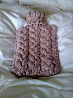 Toasty - Cabled Hot Water Bottle Cover pattern by Arianna Halshaw