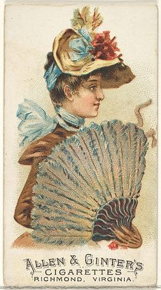 Plate 21, from the Fans of the Period series (N7) for Allen & Ginter Cigarettes Brands