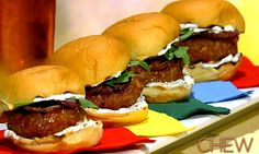 Michael Symon's Spicy Sausage Sliders from The Chew