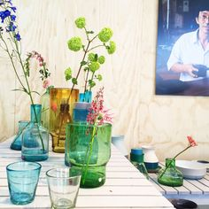 Cantel Vase Aqua small - Imperfect Design - BijzonderMOOI* Dutch design online