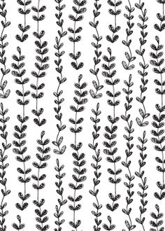 Retro Wallpaper Discover Emma Frances Designs: A bit of black and white - Sketched Vines Black And White Picture Wall, Black And White Theme, Black And White Aesthetic, Black And White Background, Black And White Design, Black And White Pictures, Pink Aesthetic, Black And White Prints, Black And White Wallpaper Phone