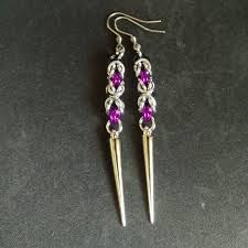 Image result for cool chainmaille earrings