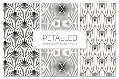 Petalled Seamless Patterns Set 5 by Curly_Pat on @creativemarket