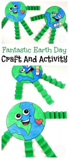 Fantastic Earth Day Craft And Activity For Kids. Crafts Fantastic Earth Day Craft And Activity For Kids · The Inspiration Edit Earth Day Activities, Craft Activities For Kids, Preschool Crafts, Arts And Crafts For Kids Easy, Science Crafts, Craft Kids, Writing Activities, Earth Craft, Earth Day Crafts