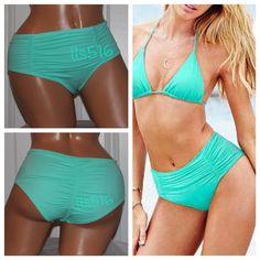 Victoria Secret High Waist Aqua Bikini Bottom Sz S New in Package. Only opened for pictures!! Size Small! Victoria's Secret Swim Bikinis