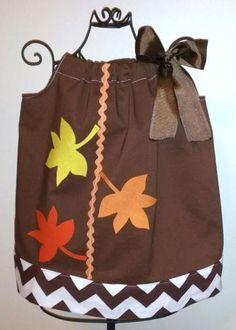 Fall Leaves Pillowcase Dress Newborn 3m 6m 12m 18m 2t 3t 4t 5t 6 By