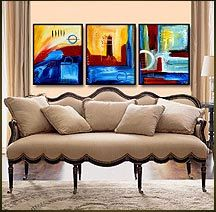 Geni003 48x20 Original Abstract Painting by Geni by genistudio, $69.99