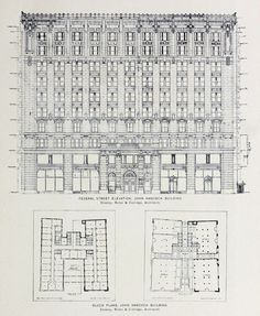 Elevation and plans for the John Hancock Building