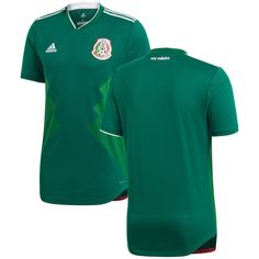 Mexico National Team adidas 2018 Home Authentic Blank Jersey - Green ba9f5d55b