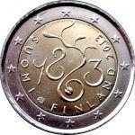 Todas las Monedas de 2 Euros Conmemorativas de Finlandia   Numismatica Visual Tove Jansson, Coins, Personalized Items, European Flags, Finland, Historia, Rooms