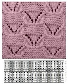 Knitting Patterns Free Baby Loom 64 New Ideas Baby Knitting Patterns, Lace Knitting Stitches, Knitting Charts, Knitting Designs, Stitch Patterns, Crochet Patterns, Knitting Room, Loom Knitting, Photo Tutorial