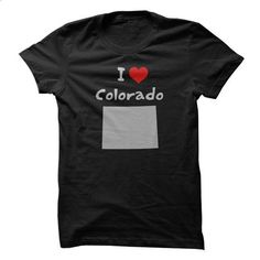 I Love Colorado with Heart and Colorado State Silhouett - #old tshirt #victoria secret hoodie. PURCHASE NOW => https://www.sunfrog.com/LifeStyle/I-Love-Colorado-with-Heart-and-Colorado-State-Silhouette.html?68278