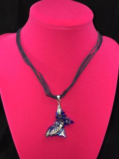 Blue Murano Glass Butterfly Necklace Gift  | eBay