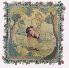 Cushion of 18th.Century French Tapestry. From CatherineShinn.com