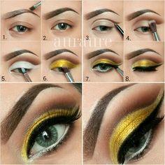 Vamos reproduzir essa make amarela?  Visite Nossa Loja : www.acqualuxo.com.br  #acqualuxo #maquiagem #makeup #maquiagemnacional #pausaparafeminices #beauté #beleza #cosméticos #beauty #ficaadica