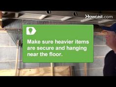 Video tips on how to organize your garage