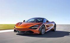 McLaren 720S, 2018, Supercar, orange 720S, sports cars, McLaren