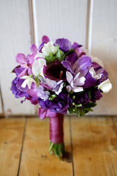Plum, eggplant, fuschia, PURPLE wedding flowers!